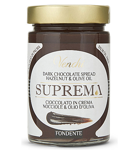 VENCHI Dark chocolate, hazelnut and olive oil spread 300g