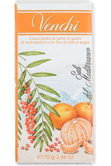 VENCHI Fior de Sale mandarin milk chocolate bar 70g