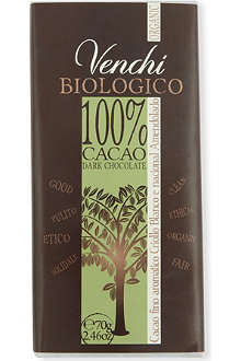 VENCHI Organic dark blend chocolate bar 70g