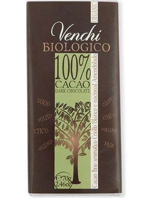 VENCHI Organic dark blend chocolate bar 70g