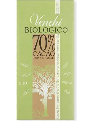 VENCHI Venchi organic dark chocolate bar 70g