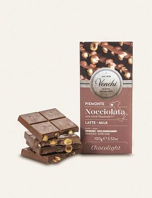 VENCHI Hazelnut milk chocolate bar