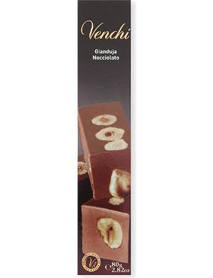VENCHI Milk chocolate gianduja and hazelnut chocolate bar 80g