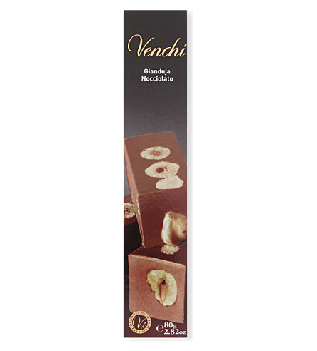 VENCHI Milk chocolate gianduja and hazelnut chocolate bar 80g
