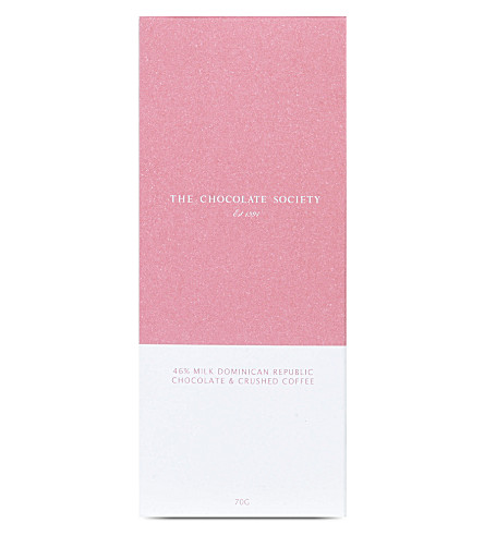 THE CHOCOLATE SOCIETY 46% milk chocolate & coffee bar