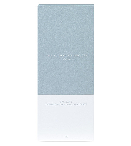 THE CHOCOLATE SOCIETY 77% dark dominican republic chocolate bar
