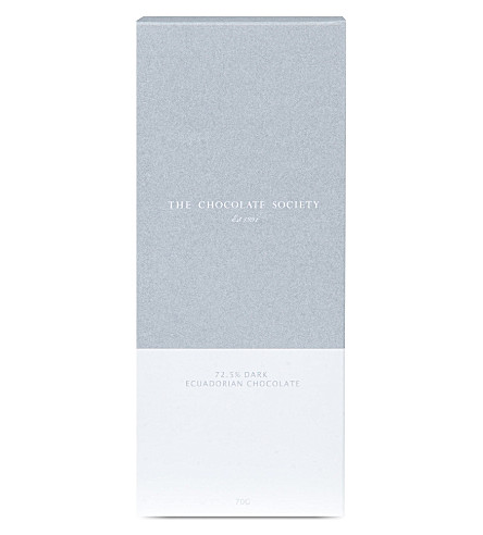 THE CHOCOLATE SOCIETY 72.5% 黑厄瓜多尔巧克力酒吧