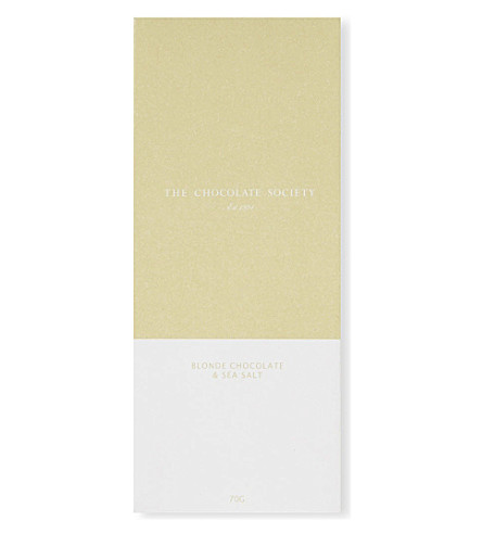 THE CHOCOLATE SOCIETY Blonde chocolate & sea salt bar