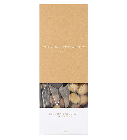 THE CHOCOLATE SOCIETY Chocolate-covered coffee beans 110g