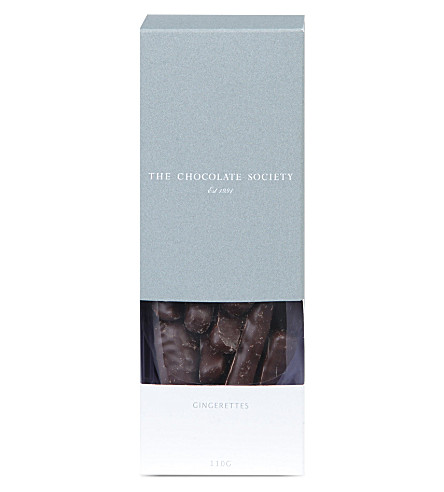 THE CHOCOLATE SOCIETY Dark chocolate gingerettes 110g