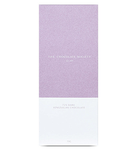 THE CHOCOLATE SOCIETY 72% dark venezuelan chocolate bar