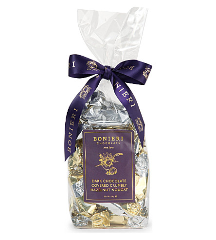 BONIERI Dark chocolate nougat selection 250g