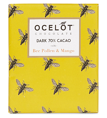 OCELOT Dark chocolate with bee pollen & mango 75g