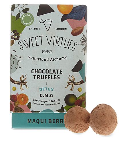 SWEET VIRTUES Maqui berry chocolate truffles 115g