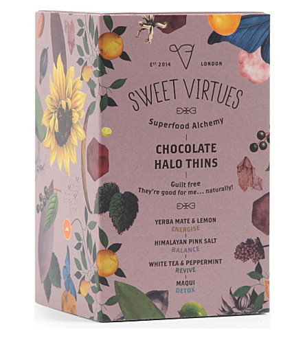 SWEET VIRTUES Chocolate Halo Thins Box 165g