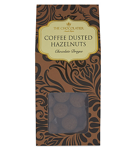 THE CHOCOLATIER Dark chocolate coffee dusted hazelnuts 125g
