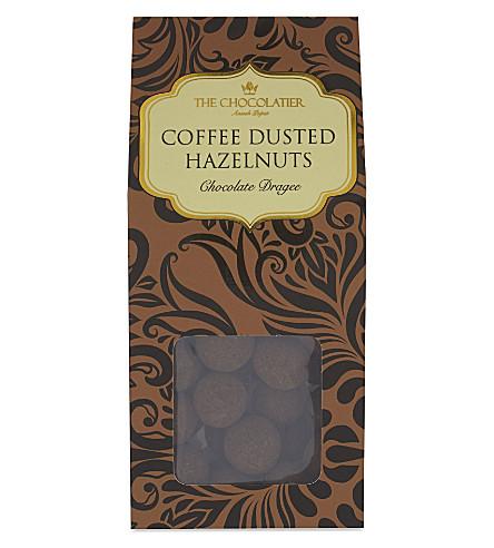 THE CHOCOLATIER Dark chocolate coffee dusted hazelnuts 125g