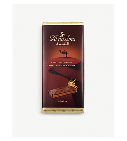 AL NASSMA骆驼牛奶 CHOCOLATE 酒吧与阿拉伯香料70g
