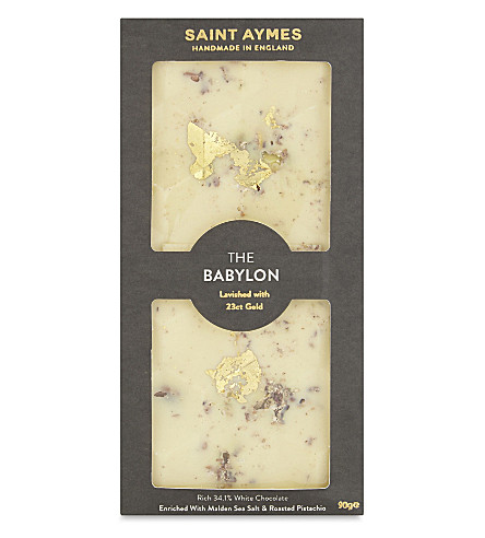 SAINT AYMES The Marie Antoinette cookie and 23ct gold white chocolate