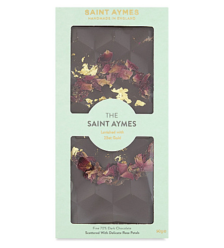 SAINT AYMES The Saint Aymes rose and 23ct gold dark chocolate