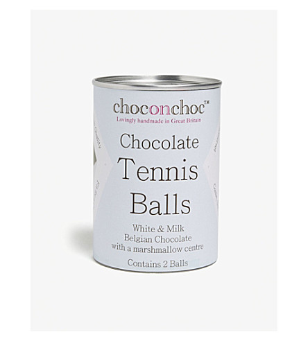 CHOC ON CHOC Tennis ball-shaped chocolates box of two