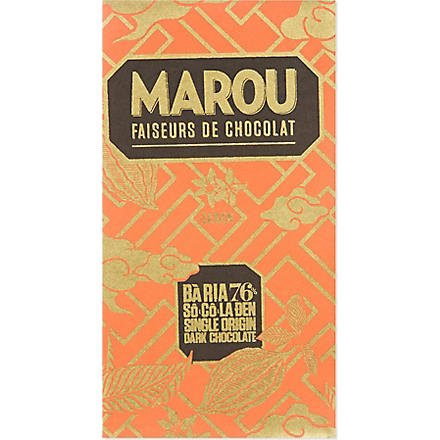 MAROU Single origin 76% dark chocolate bar 100g