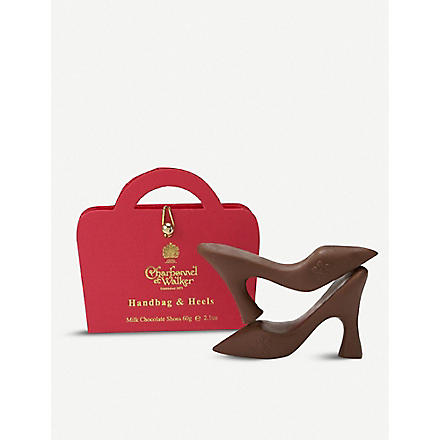 CHARBONNEL ET WALKER Milk chocolate handbag and heels 60g