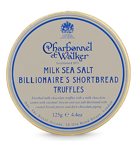 CHARBONNEL ET WALKER Sea salt billionaire shortbread truffles 125g