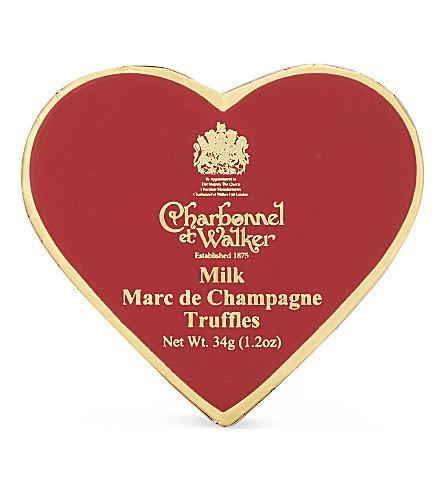 CHARBONNEL ET WALKER Milk Marc de champagne truffles 34g