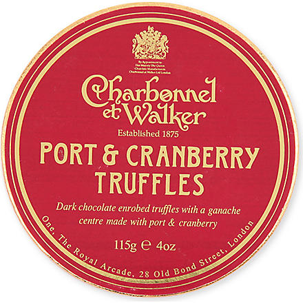 CHARBONNEL ET WALKER Port and cranberry truffles 115g
