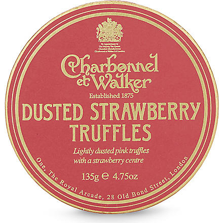 CHARBONNEL ET WALKER Dusted strawberry truffles 135g