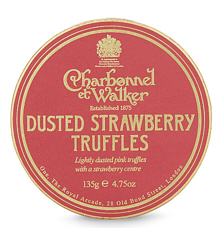 CHARBONNEL ET WALKER Dusted strawberry truffles 135g