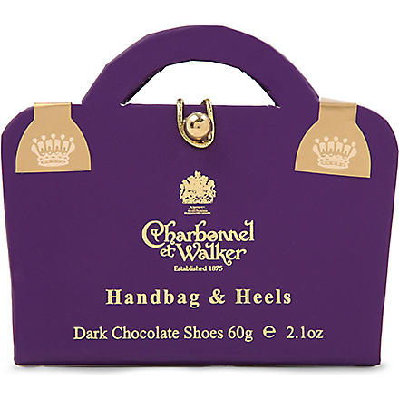 CHARBONNEL ET WALKER Dark Chocolate Handbag & Heels 60g