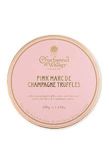 CHARBONNEL ET WALKER Pink Marc de Champagne truffles 650g