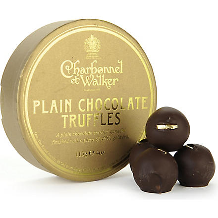 CHARBONNEL ET WALKER Plain chocolate truffles 115g