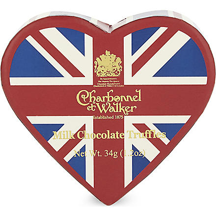 CHARBONNEL ET WALKER Union Jack milk chocolate truffles 34g