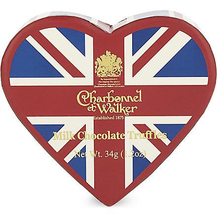 CHARBONNEL ET WALKER Union Jack milk chocolate truffles 34g