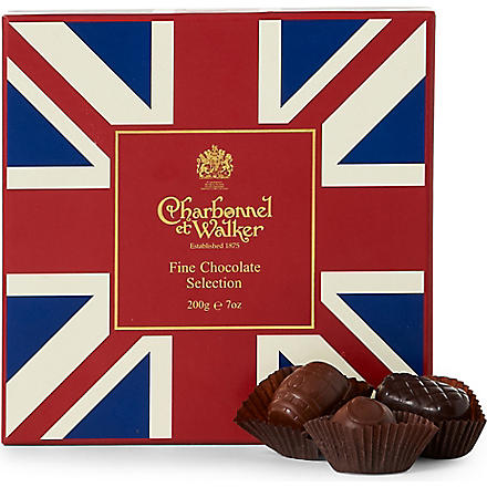 CHARBONNEL ET WALKER Union Jack fine chocolate selection 200g