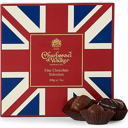 CHARBONNEL ET WALKER Union Jack fine chocolate selection 200g