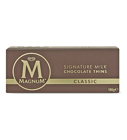MAGNUM Classic signature milk chocolate thins 180g