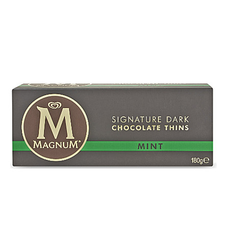 MAGNUM Mint signature dark chocolate thins 180g