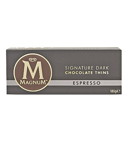 MAGNUM Espresso dark chocolate thins 180g