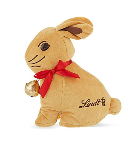 LINDT Gold bunny toy with chocolate bunnies 30g