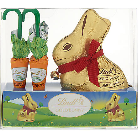 LINDT Gold Bunny and milk chocolate carrots 154g