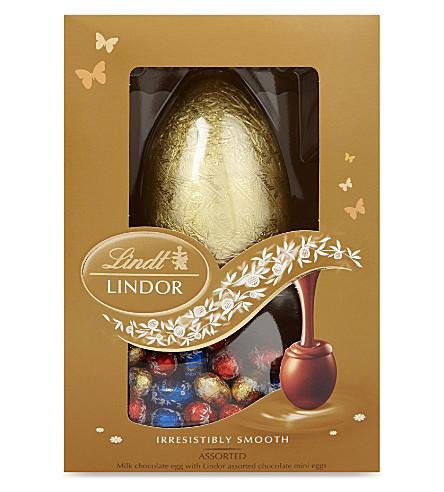 LINDT Lindor assorted chocolates Easter egg 215g