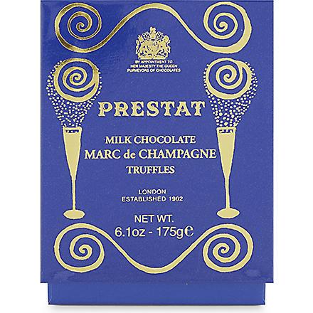 PRESTAT Milk Marc de Champagne truffles 175g