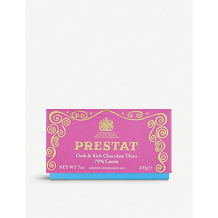 PRESTAT Dark and rich chocolate wafers 200g