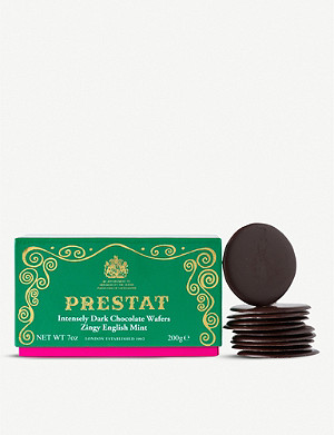 PRESTAT Zingy English mint dark chocolate wafers 200g