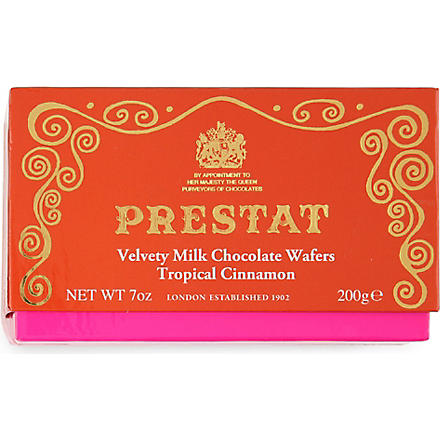 PRESTAT Cinnamon milk chocolate thins 200g
