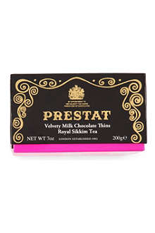 PRESTAT Milk Chocolate Sikkim Tea wafer thins 200g